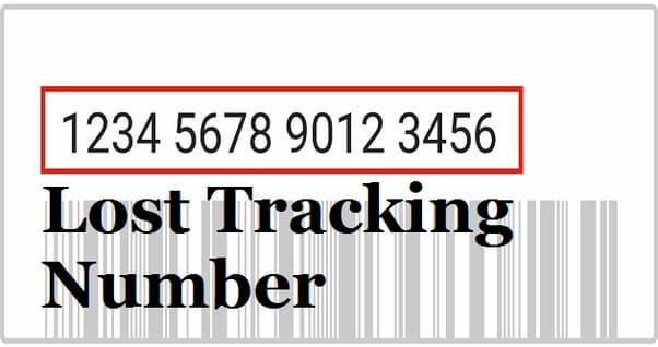 lost tracking number
